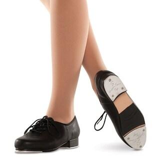 Danshuz Womens Black Leather Upper Lace Up Dance Tap Shoe Size 3.5-12