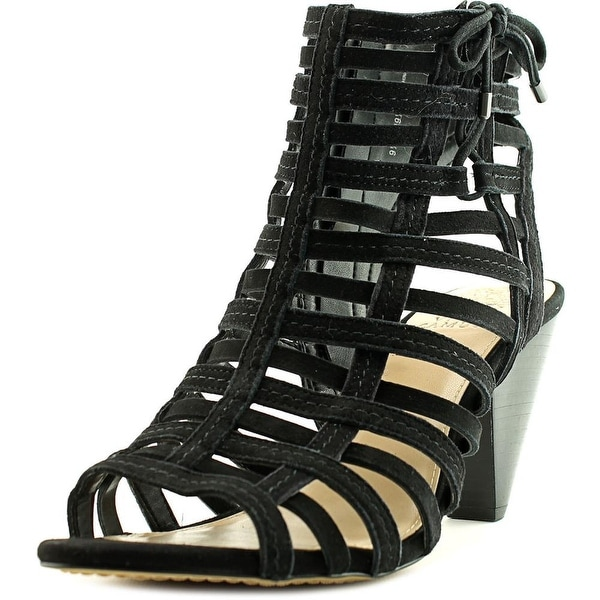 Vince Camuto Evinia Women Open Toe Suede Black Sandals