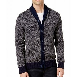 Tommy Hilfiger Blue Mens Size 2XL Cardigan Button-Front Sweater