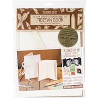 Books By Hand Designed By Me Blank Cover Bookbinding Kit-Tibetan Book, Ivory 4.25X6.5 & 5X7.5