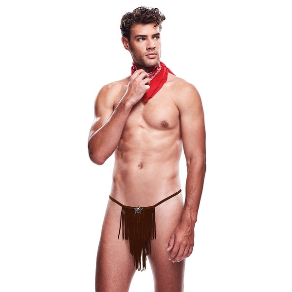 Men's Giddy Up Cowboy Lingerie Costume - As Shown
