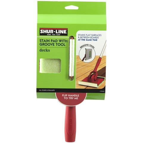 """Shur-Line 1791257 Stain Pad With Groove Tool, 6.5"""" x 7.5"""""""
