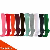 COUVER Youth Sports/Softball/Baseball Knee High Athletic Socks 12 Mixed in Color