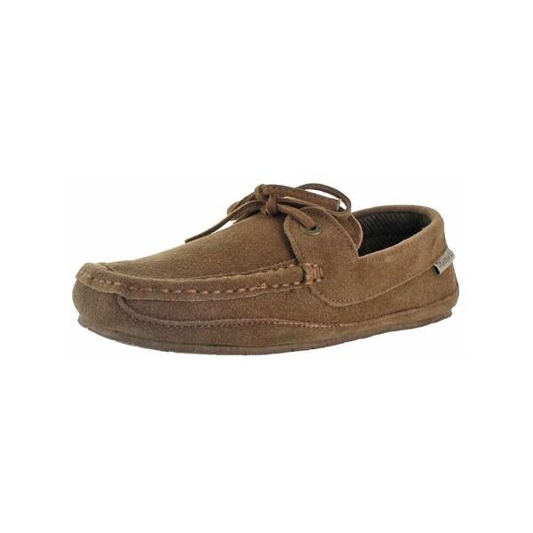 f670c03235aa Shop Bearpaw Mens Luke Moccasin Slippers Suede Wool Lined - Free ...