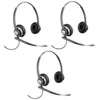 Plantronics EncorePro HW720 Noise-Canceling Stereo Corded Headset 78714-101 (3 Pack)
