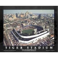 ''Tiger Stadium - Detroit, Michigan'' by Mike Smith Sports/Games Art Print (22 x 28 in.)