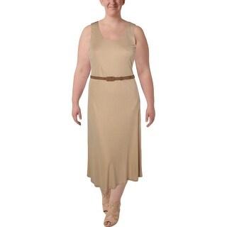 Lauren Ralph Lauren Womens Plus Maxi Dress Solid Pullover