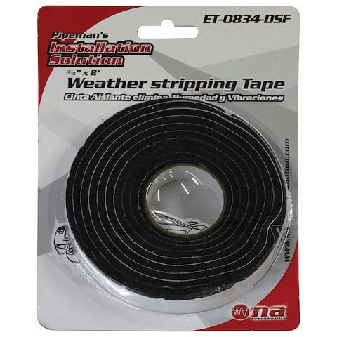 Nippon et-0834-dsf nippon 3/4 x 8' weather stripping tape