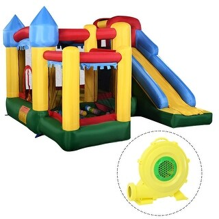 Costway Mighty Inflatable Bounce House Castle Jumper Moonwalk Bouncer w/680W Blower New