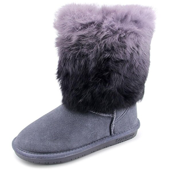 Bearpaw Keely Women Round Toe Suede Gray Winter Boot