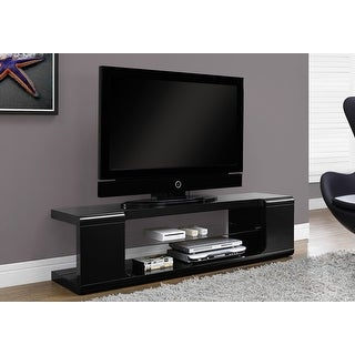 Link to Monarch 3536 High Glossy Black 60nch Tv Stand With Tempered Glass Similar Items in TV Mounts & Stands