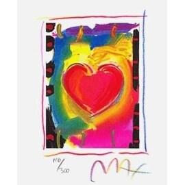 "Heart Series I, Ltd Ed Lithograph (Mini 5"" x 4""), Peter Max"