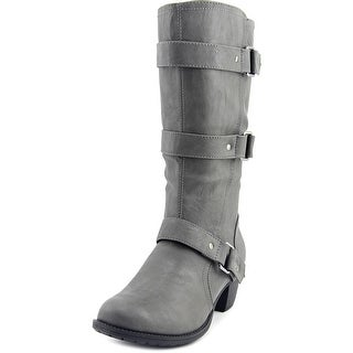 Easy Street Barlow WW Round Toe Synthetic Mid Calf Boot