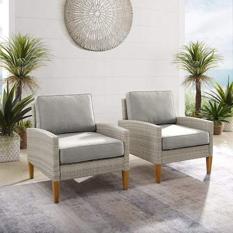 Capella Outdoor Wicker 2Pc Chair Set