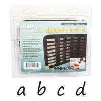 Beadsmith 27 Piece Lowercase Handwritten Alphabet Letters A-Z Punch Set For Metal 2mm