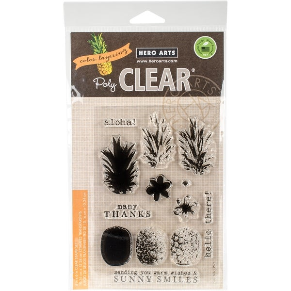 "Hero Arts Clear Stamps 4""X6""-Color Layering Pineapple"