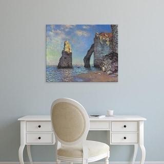 Easy Art Prints Claude Monet's 'The Cliffs at Etretat' Premium Canvas Art