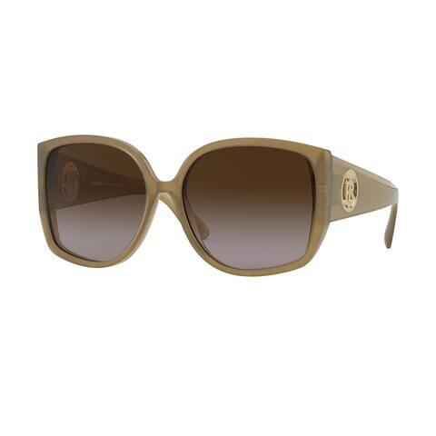 Burberry BE4290F 301513 61 Opal Beige Woman Square Sunglasses