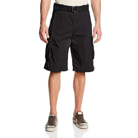 Levi's Men's Snap Cargo Short, Black Microdobby, 40W