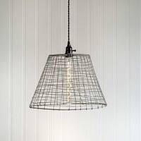 Wire Basket Pendant Lamp