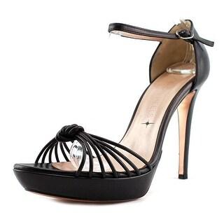 Good on Heels 3347   Open Toe Leather  Platform Heel