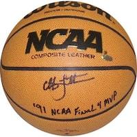 07cfe1ce966 Christian Laettner signed Wilson NCAA IndoorOutdoor Basketball 91 NCAA  Final 4 MVP Duke Blue Devils