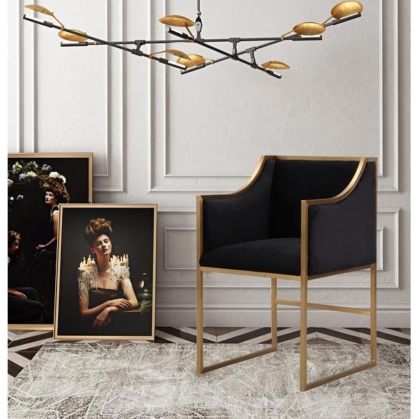 Atara Black Velvet Gold Chair. Opens flyout.