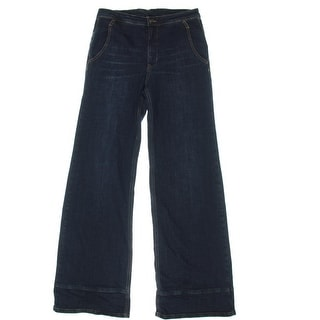 Free People Womens High Waist Whisker Wash Bell Bottom Jeans