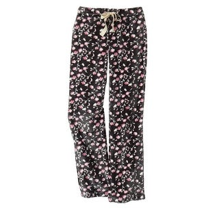 Women's Fleece Lounge Pants - Sweetheart Rosebuds Print