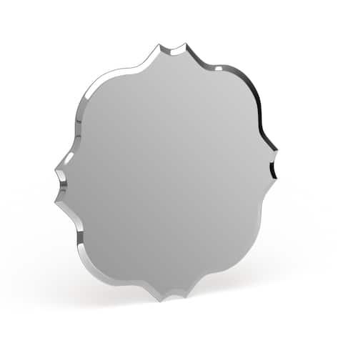 Copper Grove Gasperaux Medium Peaked Frameless Mirror