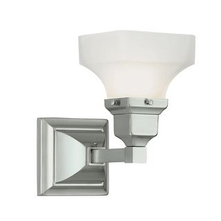 """Norwell Lighting 8121 Birmingham 9"""" Tall Single Light Bathroom Sconce with White Glass Shade (2 options available)"""
