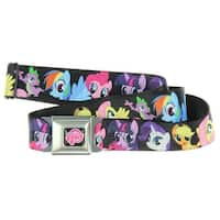 My Little Pony Group Character Seatbelt Belt-Holds Pants Up
