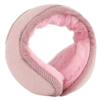 Warm Foldable Winter Knit Earmuffs for Women Men Pink