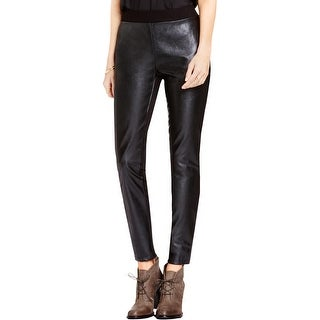Two by Vince Camuto Womens Leggings Faux Leather Mixed Media