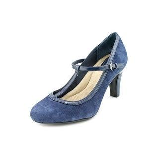 Giani Bernini Maybel Women Round Toe Suede Blue Mary Janes