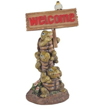 Boston Harbor PTA040A-R2A-AA-1 Solar Light Welcome Turtle