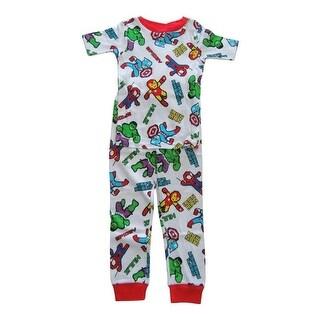 Marvel Boys White Spider-Man Short Sleeve Two Piece Pajama Set