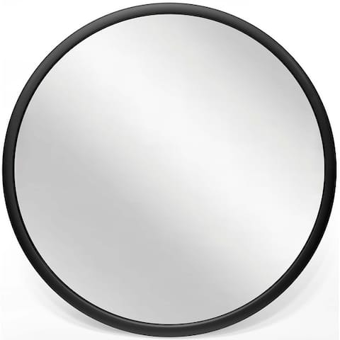 Nera 22 inch Matte Black Hanging Wall Mirror