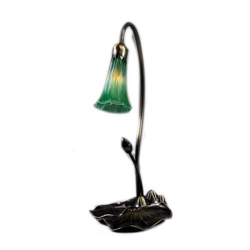 Meyda Tiffany 12859 Stained Glass / Tiffany Desk Lamp from the Lilies Collection