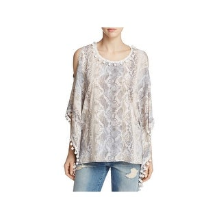 T Tahari Womens Valerie Pullover Top Printed Cold Shoulder (4 options available)