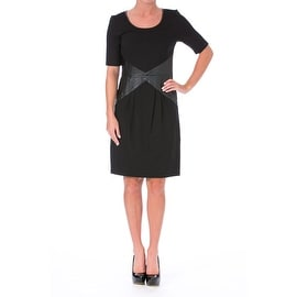Lysse Womens Faux Trim Slimming Wear to Work Dress