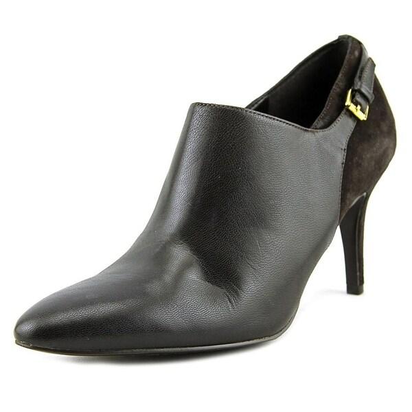 Lauren Ralph Lauren Pabla Women Round Toe Suede Brown Heels
