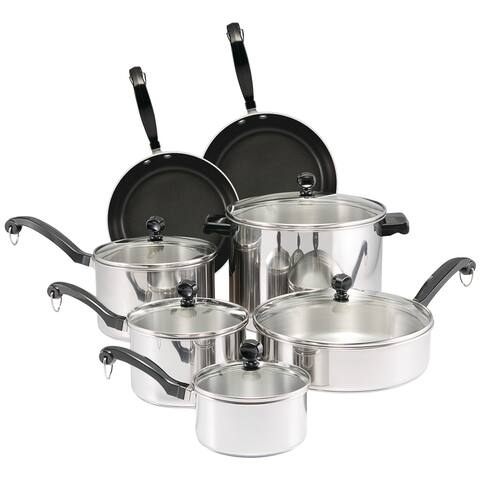 Farberware Classic Series Stainless Steel Cookware Set, 12-Piece