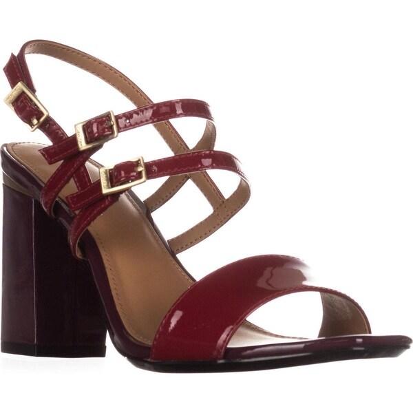Calvin Klein Caisiey Dress Sandals, Garnet/Cabernet