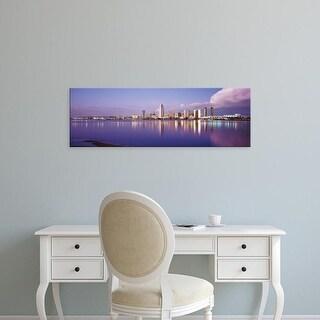 Easy Art Prints Panoramic Images's 'USA, California, San Diego, Financial district' Premium Canvas Art