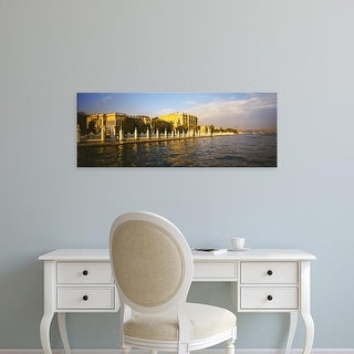 Easy Art Prints Panoramic Image 'Palace at the waterfront, Dolmabahce Palace, Bosphorus, Istanbul, Turkey' Canvas Art