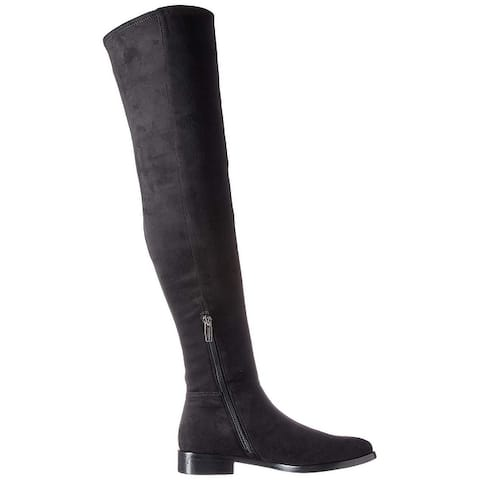 Vince Camuto Women's Shoes Hailie Suede Almond Toe Over Knee Fashion Boots