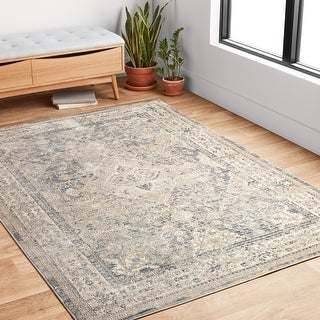 Alexander Home Josefina Diamond & Floral Traditional Rug