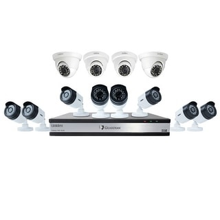 UNIDEN G71684D3 Wired DVR Security Camera System w/ 8 1080P Bullet Cameras, 4 1080P Dome Cameras and 3 TB HDD