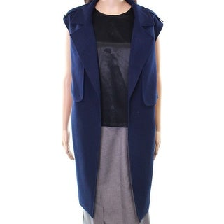 Tahari by ASL Blue Women's Size 20W Plus Military Vest Jacket